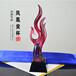 舞蹈表演冠军奖凤凰奖杯歌唱比赛奖品颁发琉璃奖杯厂家定制深圳