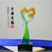 慈善活动颁发爱心奖杯感恩节送父母礼物琉璃奖杯深圳厂家奖杯定制发货及时