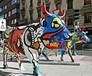 玻璃鋼彩繪牛-玻璃鋼彩繪動物-雨桐玻璃鋼廠家玻璃鋼定制家具