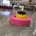 河北玻璃鋼廠家定制玻璃鋼家具圓圈坐凳商場休息座椅甜甜圈凳子