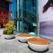 玻璃鋼休閑椅聯和長凳實木休息坐凳商場美陳坐椅戶外創意坐凳