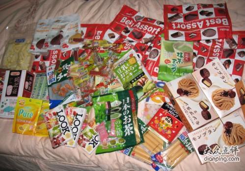 一堆可爱零食的图片