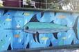 大連江城墻繪餐飲公共場所的墻繪壁畫藝術
