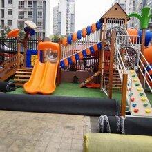 四川儿童实木滑梯厂家,成都幼儿园进口实木梭梭板,实木儿童荡桥,实木钻爬玩具图片