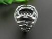 外贸珠宝首饰工厂加工925银戒指空托戒托加工镶嵌欧式女款琥珀蜜蜡银托供应