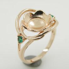 戒指定做珠宝高端定制DIY首饰配件镶嵌托925银戒托首饰托个性设计来图定做
