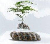 磁悬浮盆栽,仿石头花岗岩底座,厂家低价批发