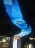 白色透膜天花吊顶喷画图案透光膜天花吊顶
