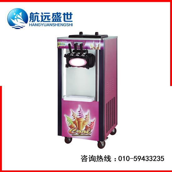 立式甜筒冰淇淋机三头三色冰淇淋机软质三头冰激凌机商用甜筒冰激凌机