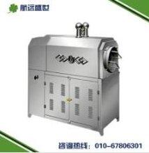 自动炒油茶粉的设备燃气炒麦芽粉的机器100型米面粉烘炒炉子不锈钢滚筒炒辣椒机图片