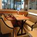 西餐厅卡座沙发定制厂家音乐吧餐桌椅生产厂家