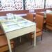 三亚饭菜真湘餐桌椅带抽屉铁桌子厂家电解板铁桌