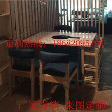 龙岗区火锅店桌椅直销行一家具定制大理石火锅桌椅