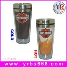 厂家直销双层塑料不锈钢杯定制促销礼品变色杯卡通不锈钢变色杯