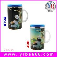 定制变色保温杯变色陶瓷保温杯时尚不锈钢变色随手保温杯