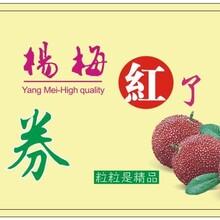 杨梅预售礼品卡券水果礼盒礼品卡券二维码防伪自助兑换礼品卡券