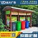 山东省分类垃圾亭定制,简单环保垃圾亭,小区社区简易垃圾亭厂家