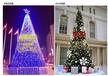 大型新颖圣诞主题圣诞树出租制造批发圣诞树租赁图片价格