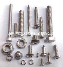 深圳不锈钢非标螺丝定做、不锈钢201-304-316-410非标螺丝螺母螺栓螺柱
