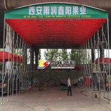 陕西厂家直销工地钢筋棚移动推拉雨棚活动伸缩遮阳蓬折叠仓库帐篷图片