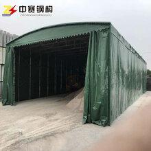 厂家直销移动伸缩阳蓬大型折叠仓库帐篷活动夜市烧烤蓬工地钢筋棚图片