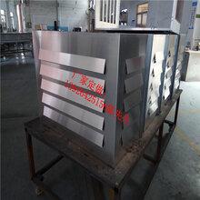 百葉窗空調罩鋁板通風百葉窗金屬裝飾材料圖片