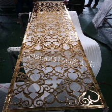铝板雕花屏风隔断雕刻铝板金属隔断装饰材料图片
