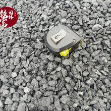 佛山黑色砾石产地-深灰色砾石黑色机制石-日式庭院碎石园林水洗石