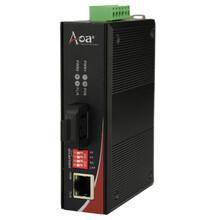 工业级百兆千兆1光1电光纤收发器单模单纤双纤带POE功能图片