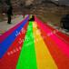 風情萬種的彩虹旱雪滑道七彩旱雪滑道電動滑草車旱雪場人工草皮