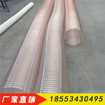 工业吸尘风管PU钢丝缠绕风管透明吸尘软管100mm图片