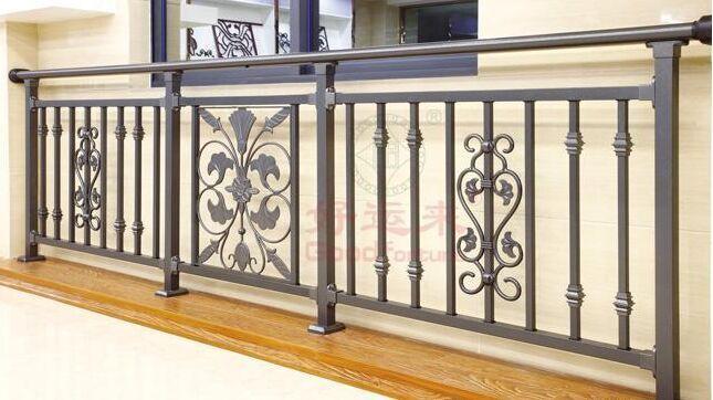 河南新乡别墅护栏烤漆阳台护栏 阳台栏杆设计图