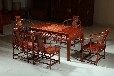 东阳弯脚吉祥红木茶桌茶台,七件套缅甸花梨木材质茶台,清御府厂家直销QYF-005