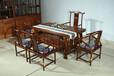 东阳休闲茶台,七件套缅甸花梨木材质,清御府厂家直销QYF-006