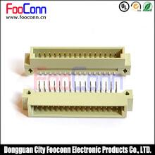 东莞富上DIN41612欧式插座20PIN公座(A+B)PH2.54两排直针图片