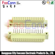 东莞富上DIN41612欧式插座32PIN连接器(A+B)PH2.54两排直孔图片
