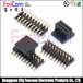 2.54mm排针连接器双排单塑排针蜈蚣脚PCB焊接价格