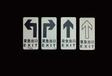 夜光蓄光消防标识安全出口标识pvc铝板标识