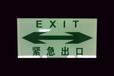 钢化玻璃警示标志夜光标识蓄光消防指示标志