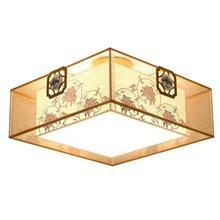 厂家生产批发客厅卧室布罩中式吊灯