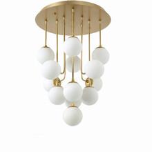 厂家批发玻璃球球简约现代客厅卧室吊灯