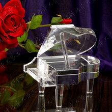 钢琴水晶模型,水晶摆件,音乐比赛纪念品,音乐奖杯