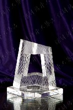 电视台周年庆纪念品,水晶模型,水晶内雕,水晶深雕摆件