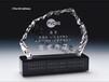 惠州水晶奖牌定做,精致奖杯定制,水晶冰山奖牌,酸洗奖杯