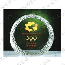 澳门水晶奖牌,珠海水晶冰山奖杯,最佳导游奖杯,优秀企业家奖杯