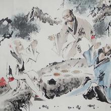 任伯年款松鹤延年寿字图市场价值晚清民国楹联齐整登场图片