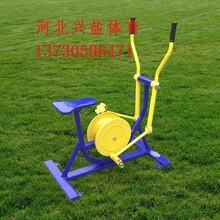 公园联动健身车生产厂家图片