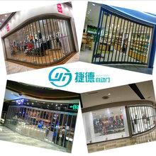深圳龙岗水晶门商铺透明水晶卷闸门推拉门厂家免费安装图片