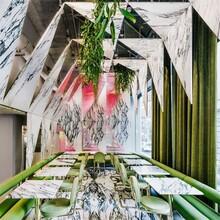 餐厅办公室装修中如何用大理石做室内装饰