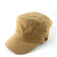 春夏款平顶帽定制批发男女户外战术棒球帽珠帆布纯色遮阳军帽
